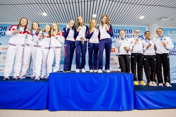 45th European Junior Swimming Championships, Podium