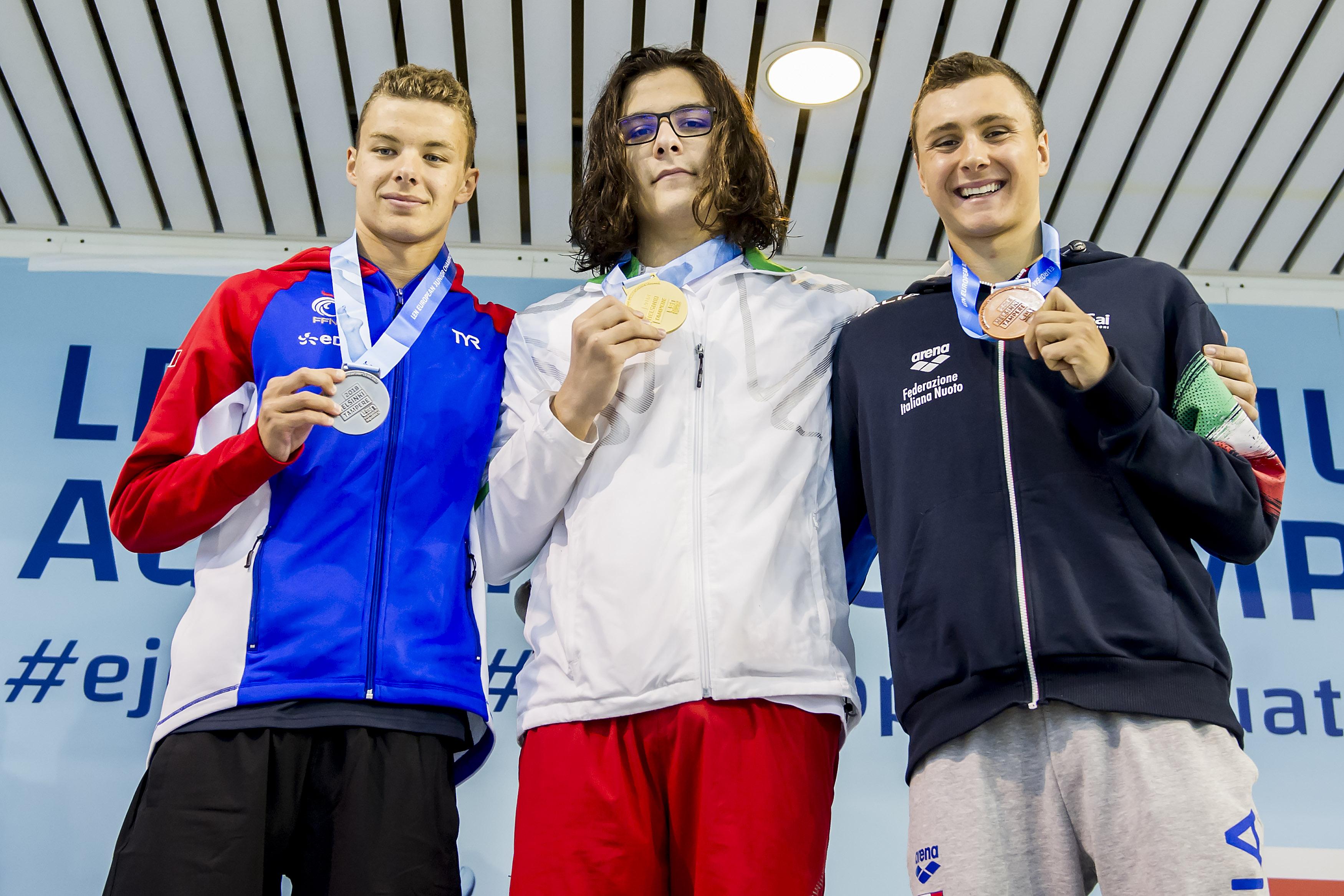 45th European Junior Swimming Championships, Podium