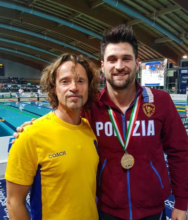Italiani Invernali - Marco Orsi al RI con Roberto Odaldi coach