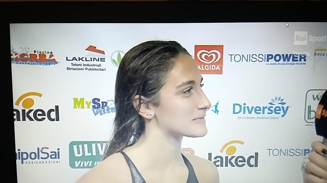 Simona Quadarella ai microfoni RAISport